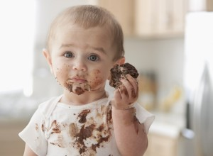 chocolate-eating-baby