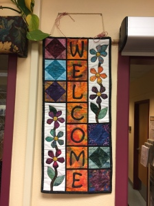 Only a few days left to snag this Welcome banner for your door. it was designed and hand-crafted by one of our Friends.