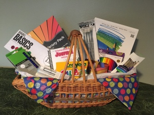 March's Silent Auction item is a large basket FULL of art supplies in honor of Ridgefield's Student Art Month. $40-$50 value!